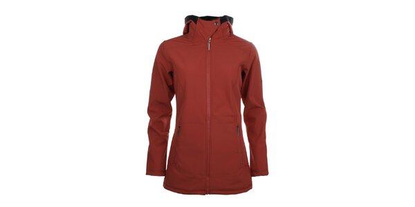 Dámská delší softshellová bunda Trimm - červená
