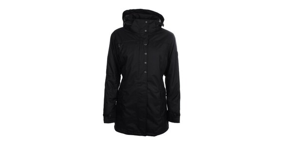 Dámská černá dlouhá péřová bunda Trimm