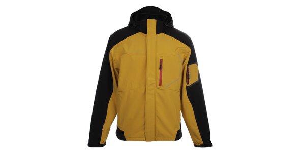 Pánská žluto-černá softshellová bunda Trimm