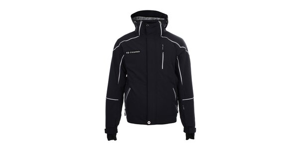 Pánská tmavomodrá lyžařská bunda s bílými prvky Trimm