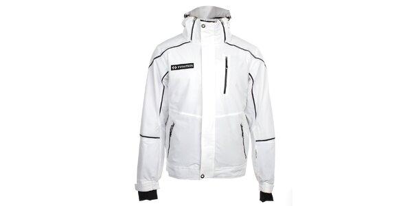 Pánská bílá lyžařská bunda s černými prvky Trimm