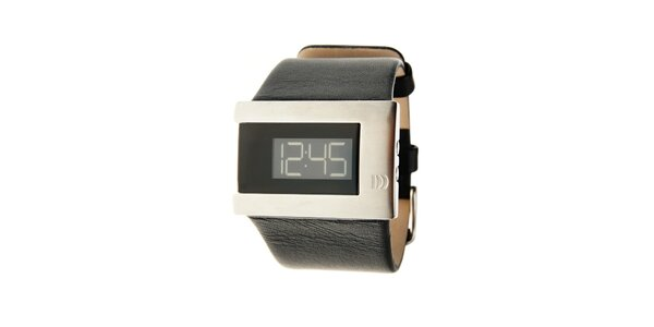 7682ada04 Dámské černo-stříbrné digitální náramkové hodinky Danish Design s černým…