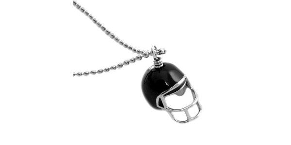 Dámský náhrdelník s přívěskem helmy Moschino