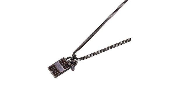 Dámský náhrdelník s kamínky DKNY
