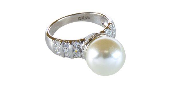Dámský prstýnek se smetanovou perličkou Cerruti 1881