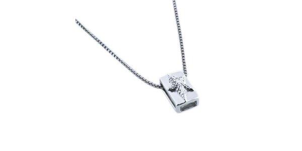 Dámský náhrdelník s obdélníkovým přívěskem Thierry Mugler