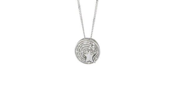 Dámský náhrdelník s kulatým přívěskem a hvězdičkou Thierry Mugler