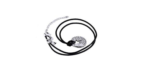 Dámský náhrdelník s kulatým přívěskem ve stříbrném tónu Thierry Mugler