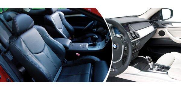 Parní čištění interiéru automobilu - novinka na trhu