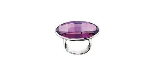 Dámský prsten s fialovým kamínkem Calvin Klein