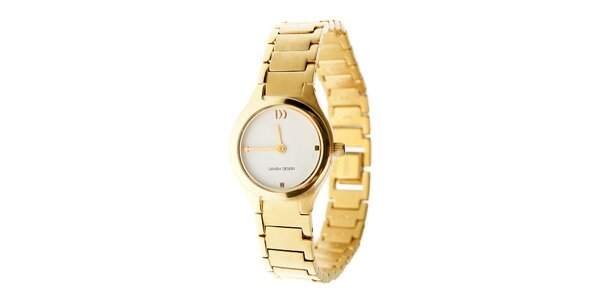 Dámské zlaté titanové hodinky Danish Design