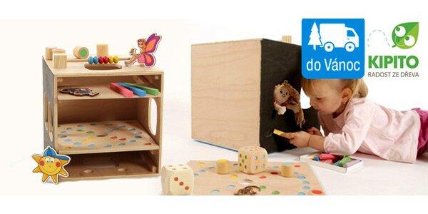 Multifunkční dřevěné hračky pro děti