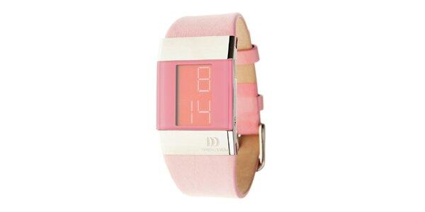 Dámské růžové digitální hodinky Danish Design