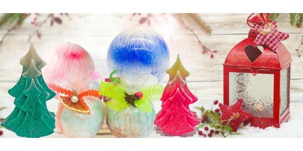 Vánoční svíčky z malajsijského palmového vosku