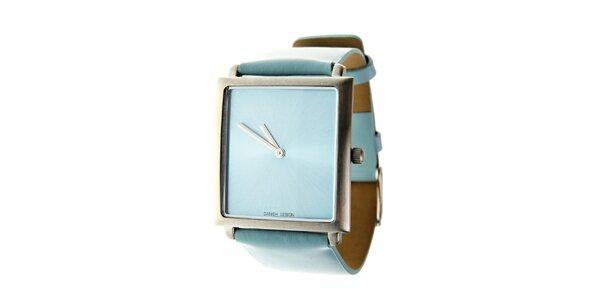 Dámské světle modré hodinky Danish Design s koženým řemínkem