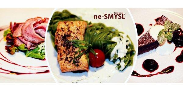 Šmakózní 3chodové menu v restauraci ne-SMYSL