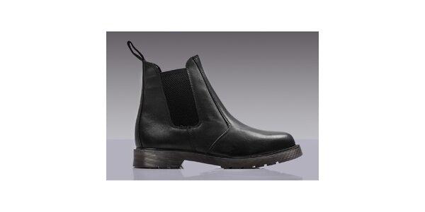 Pánské černé kožené chelsea boty Grafters