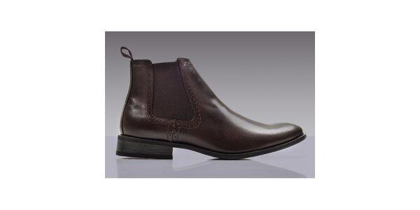 Pánské hnědé chelsea boty ROUTE21