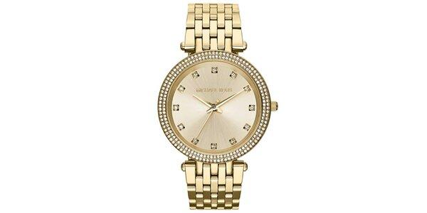 Dámské hodinky s bílými zirkony Michael Kors