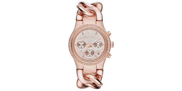 Dámské zlacené hodinky s chronografem Michael Kors