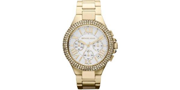 Dámské pozlacené hodinky z ušlechtilé oceli Michael Kors