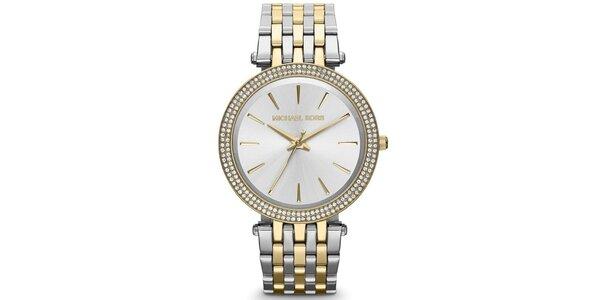 Dámské hodinky s lunetou posetou zirkony Michael Kors