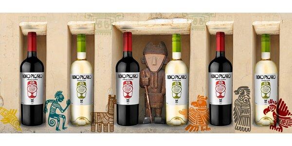 6 chilských vín z kolekce Indio Pícaro