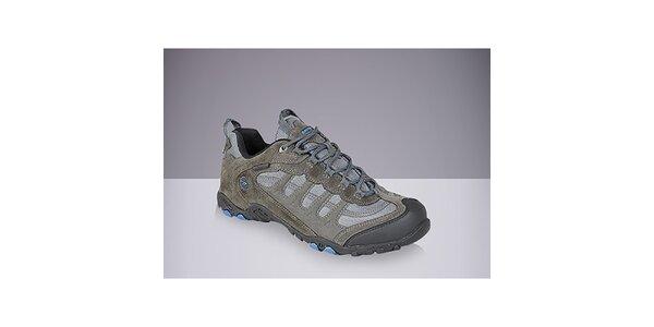 Pánské šedé boty s modrými prvky Hi-Tec