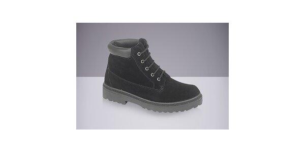 Pánské černé boty se šněrováním DEK