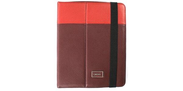 Dámské vínovo-červené pouzdro na iPad DKNY