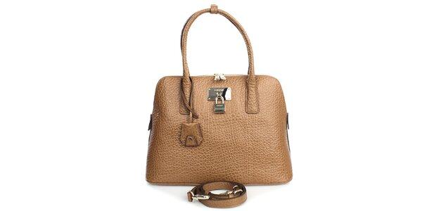 Dámská světle hnědá kabelka se zlatým zámečkem DKNY 03849bff2f7