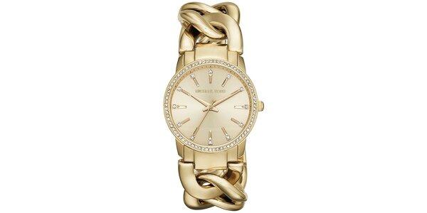 Dámské pozlacené hodinky Michael Kors