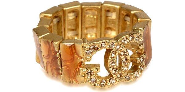 Guess prsten univerzální velikost, hnědo-zlatá barva