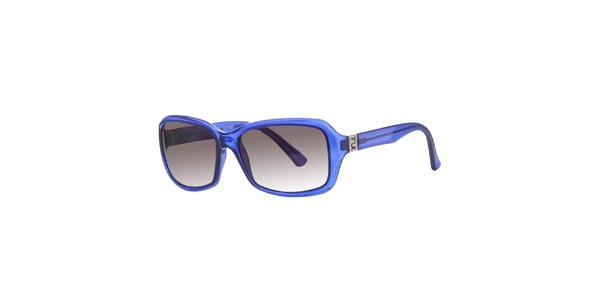 Dámské modré sluneční brýle Fendi s kamínky