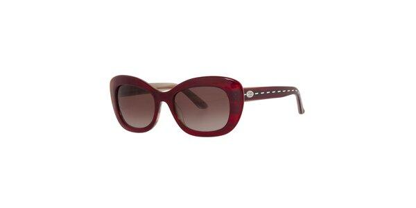 Dámské temně červené sluneční brýle Fendi