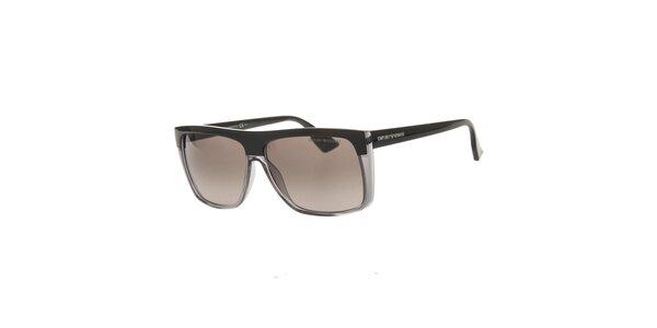Pánské černo-šedé sluneční brýle Emporio Armani