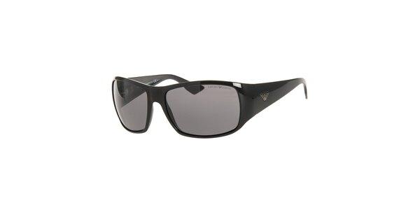 Pánské černé sluneční brýle Emporio Armani