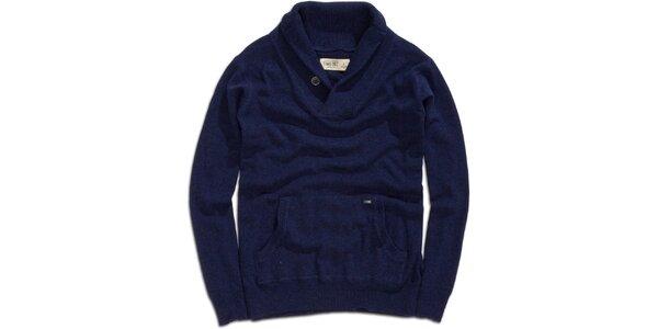 Pánský modrý svetr s klokaní kapsou Timeout
