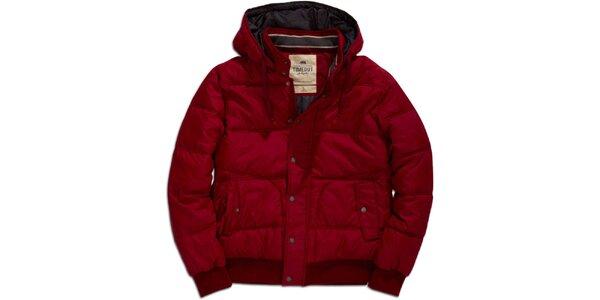 Pánská červená bunda s kapucí Timeout