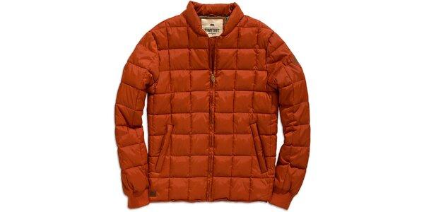Pánská oranžová zimní bunda s prošíváním Timeout