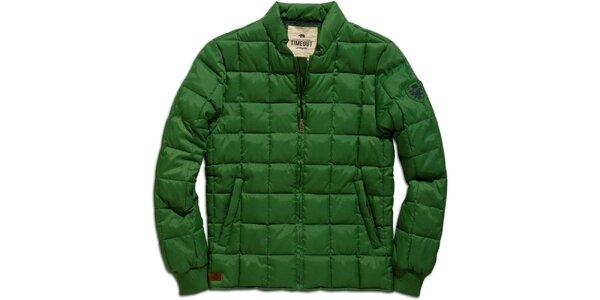 Pánská zelená zimní bunda s prošíváním Timeout
