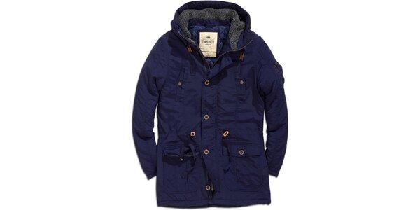 Pánská tmavě modrá bunda s kapucí Timeout