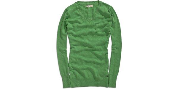 Dámský delší zelený svetr Timeout