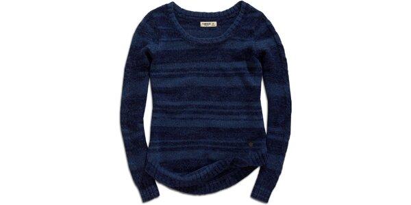 Dámský modrý svetr s proužky Timeout