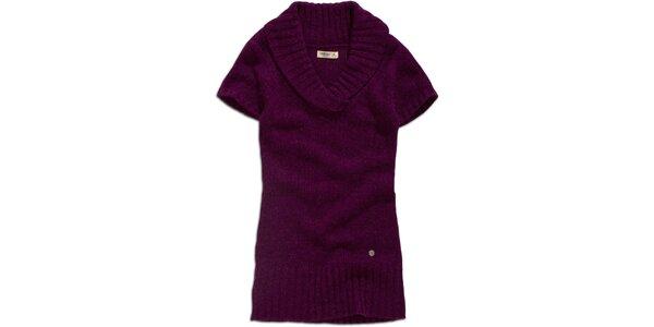 Dámský fialový svetřík s krátkým rukávem Timeout