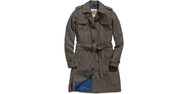 Dámský šedý zimní kabát Timeout