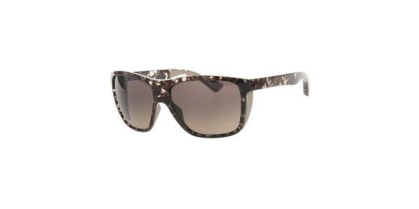 Pánské tmavě hnědé mramorované sluneční brýle Emporio Armani