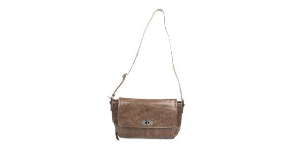 Dámská béžová společenská kabelka Sisley