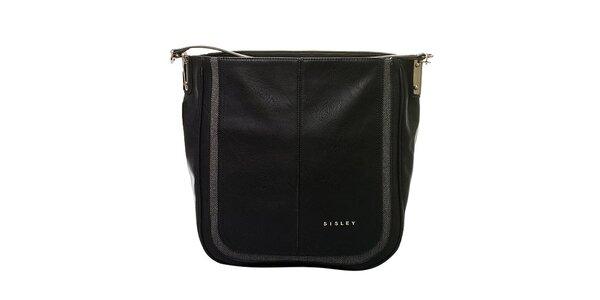 Dámská černá kabelka s jedním poutkem Sisley