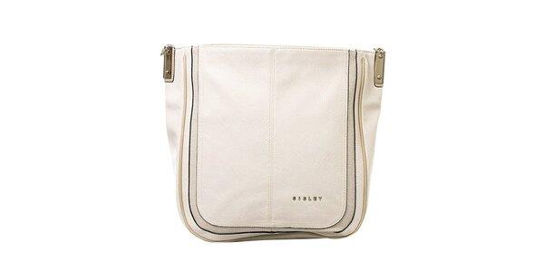 Dámská krémová kabelka s jedním poutkem Sisley